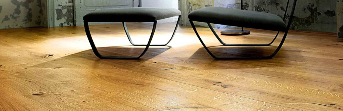 Rustic Wooden Flooring Design with wide grain