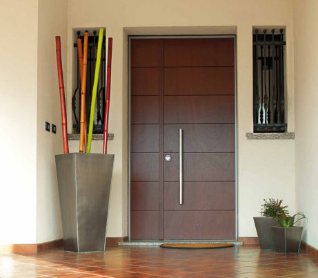 Contemporary Security Door with side panel
